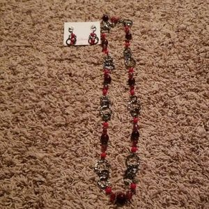 Premier design long red necklace.